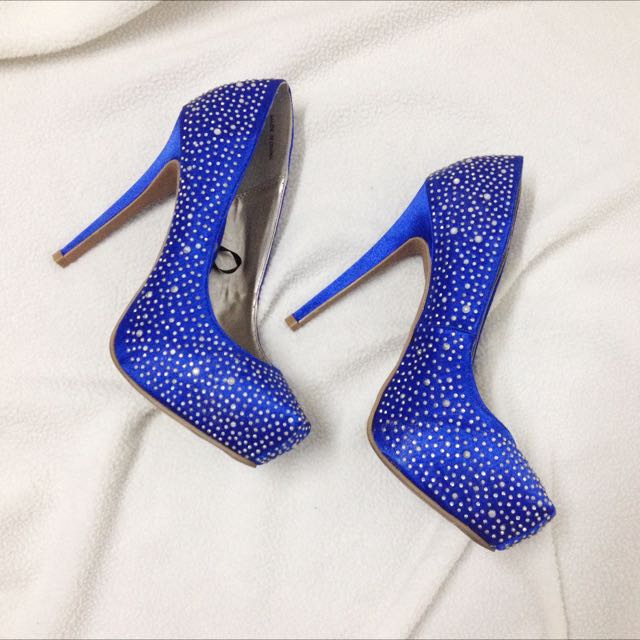 Forever 21 Royal Blue Studded Pumps