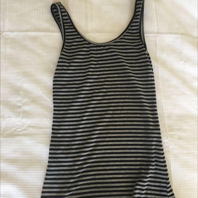 Grey Stripe Singlet