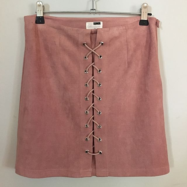 Hello Molly Faux Suede Skirt Size 10