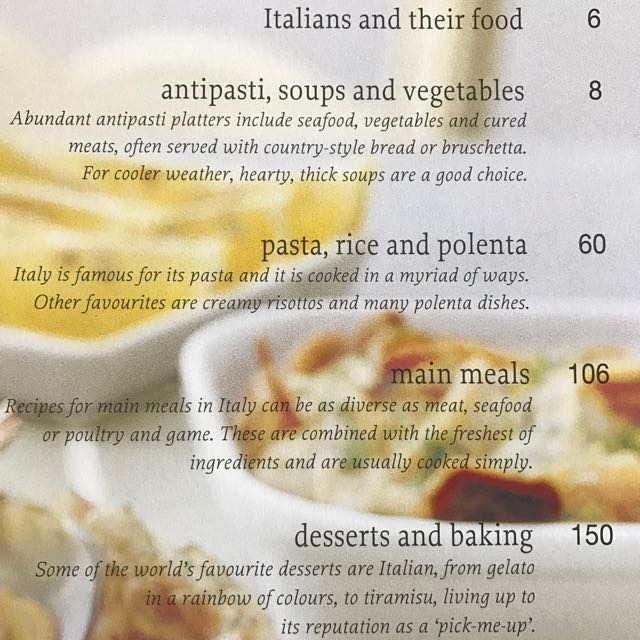 Italian : Easy Recipes, Techniques, Ingredients;  RRP $30