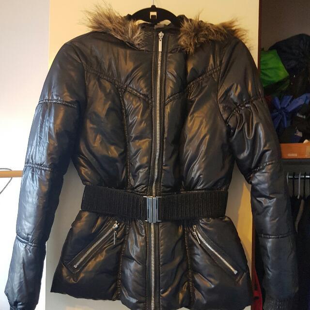 Size 10 H&M Black Jacket With Belt