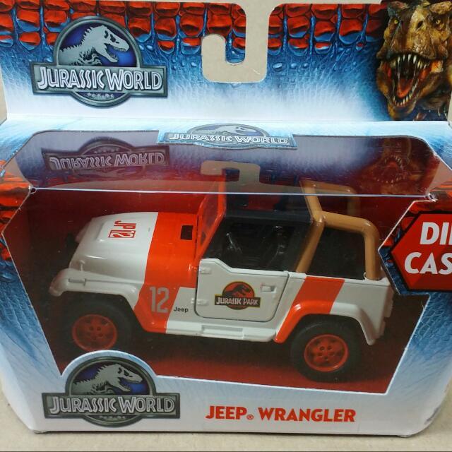 Jurassic World Diecast Toy Wrangler Jeep