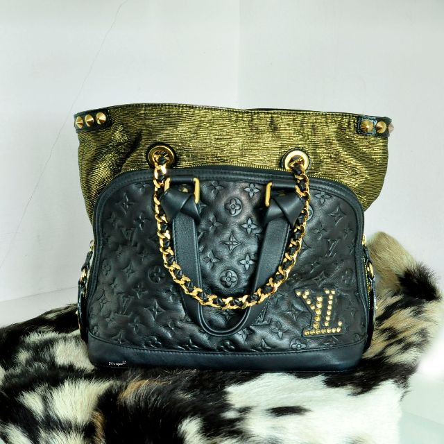 4c39dc2fc0ed Louis Vuitton Limited Edition Black Monogram Double Jeu Neo Alma Bag  MI74029 (5169-2)