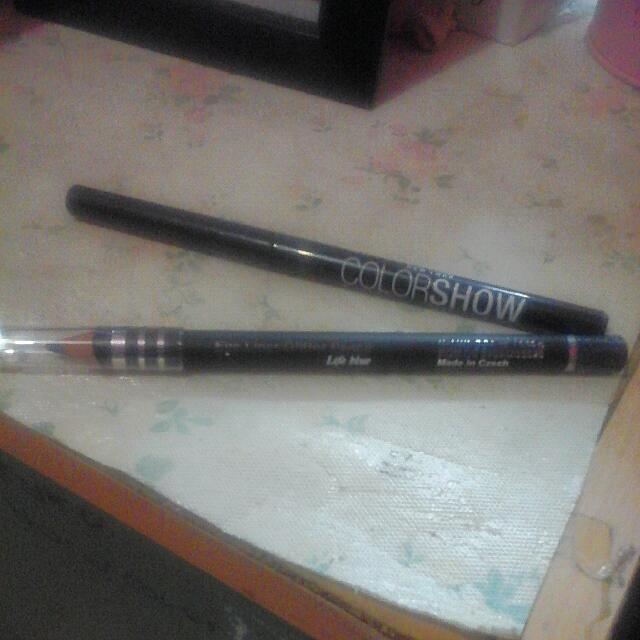 "Lt Pro Eyeliner Glitter Pencil ""Lifeblue"" Free Preloved Maybelline Eyeliner. 1x Swatch"