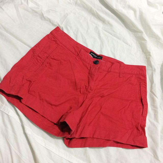 Mango Red Shorts
