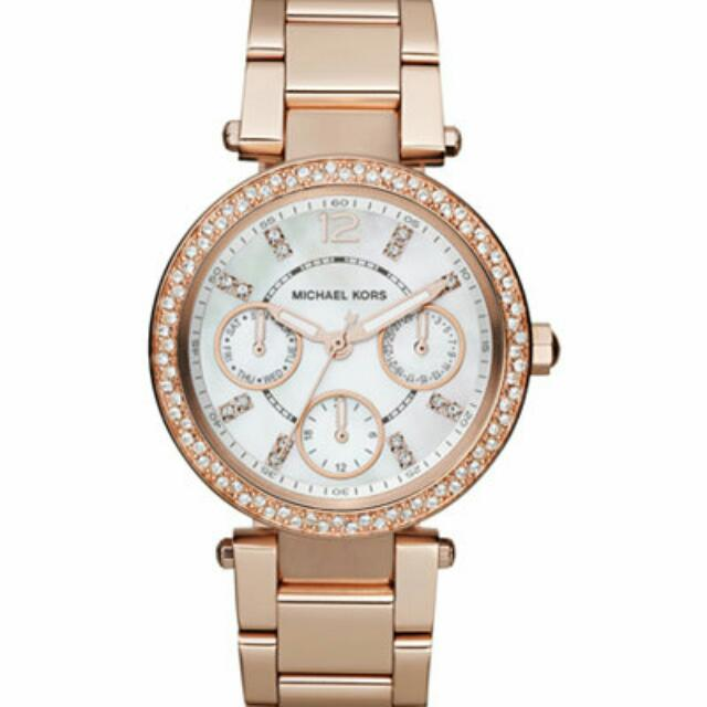 Michael Kors Chronograph Parker Rose Gold Watch