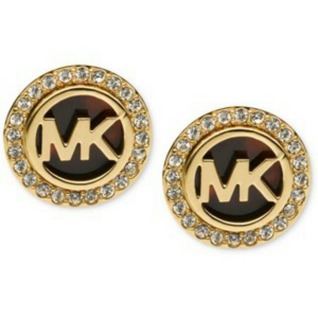 Michael Kors Logo Gold Stud Earrings