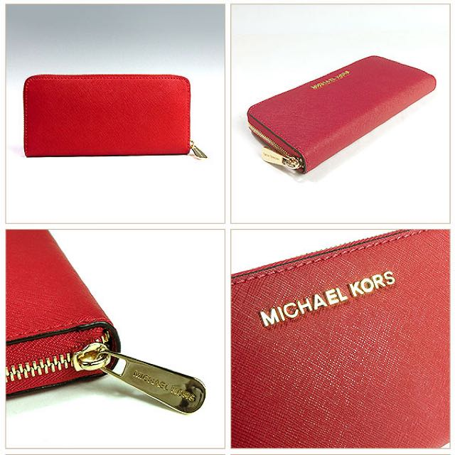 REDUCED $ - Michael Kors Long Red Continental Wallet