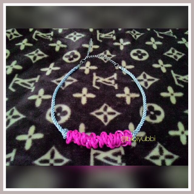Necklace Silver Pink- Kalung