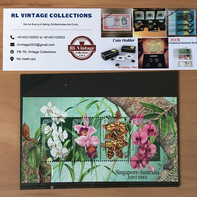 Orchid Of Singapore - Australia Joint Issue Stamp