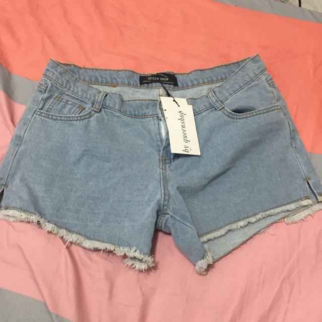 Queen Shop 牛仔短褲 L