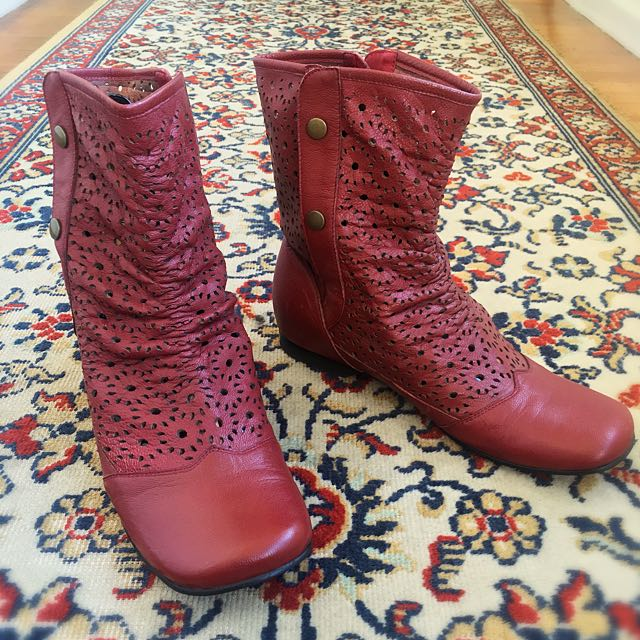 Red Boots With Lasercut