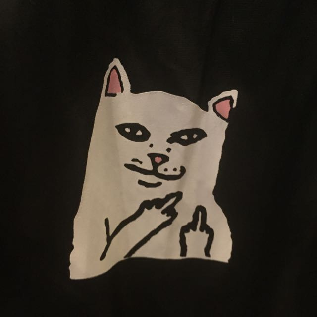 RIPNDIP Tumblr Cat Nermal Black Bomber Jacket