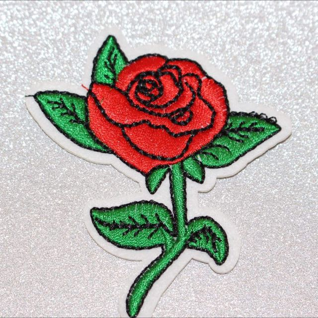 Rose Iron On Patch