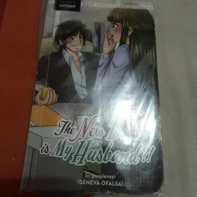 selling my wattpad books :)  title: The new boss is my husband