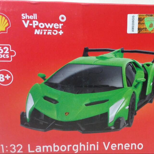 Shell V-Power Toy Car 3d Puzzle Lamborghini