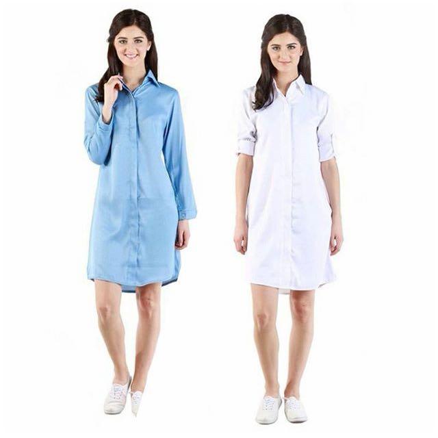 shirtdress in white