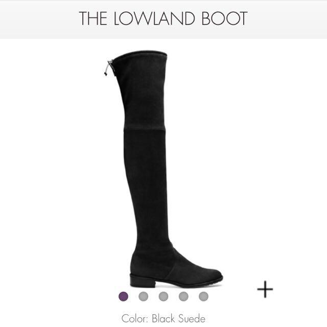 Stuart Weitzman Lowland Black Suede Boots Size 8.5