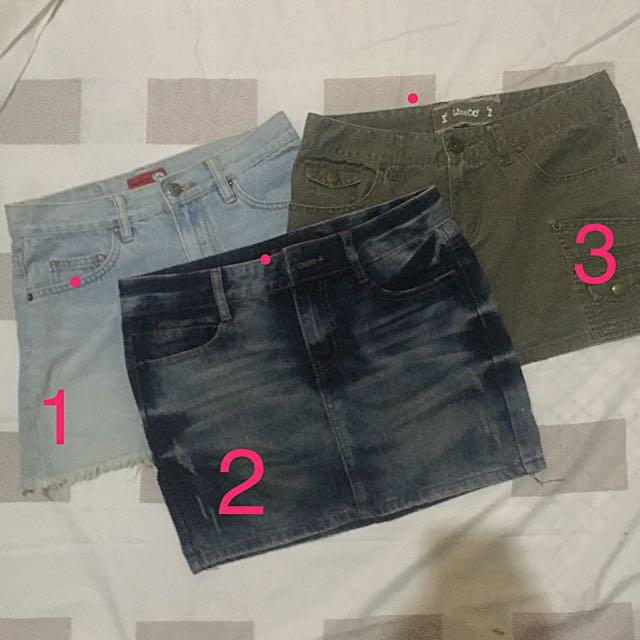 Take All 100rb Mini Skirt (Rok Pendek) Jeans