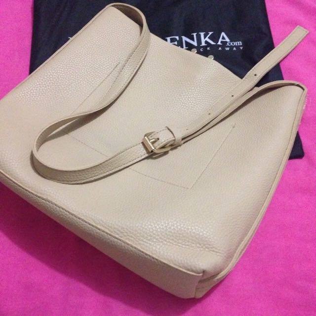 Tas Berrybenka Shoulder Bag Nude