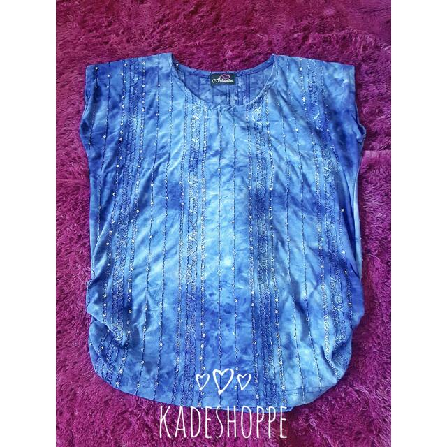 Tie Dyed Blue Top