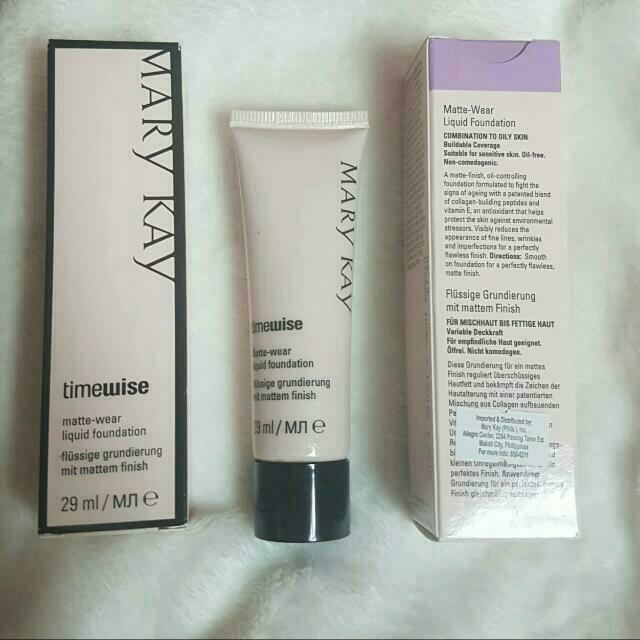 Timewise Matte Wear Liquid Foundation For Combination To Oily Skin By Mary Kay ONHAND
