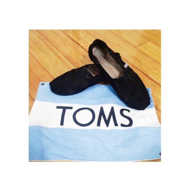 🔸二手🔸toms 黑色蕾絲鞋 #五百元好女鞋