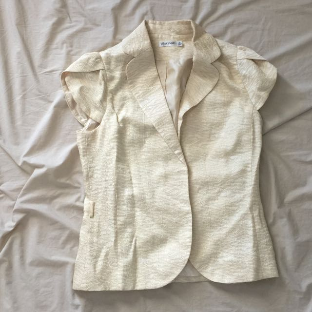 Vintage Style Top Cream And gold