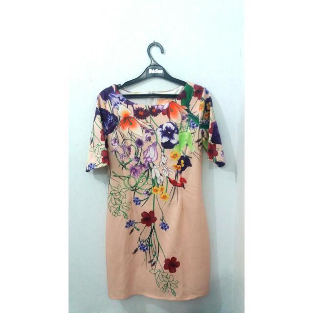 Vornera Cream Mini Dress (Bought From SOGO)