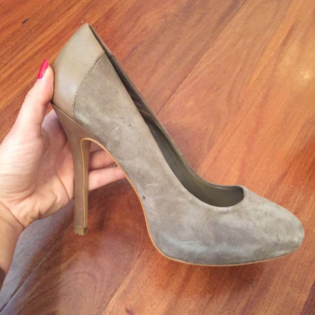Zara Taupe Heels Size 40