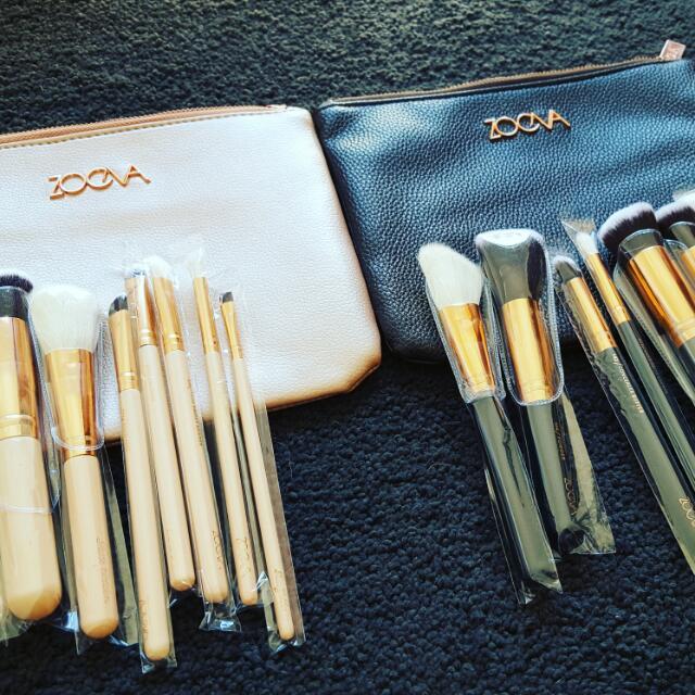 Zoeva 8 Brush Set Black And rose gold