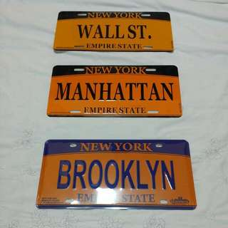 New York Famous Street Name Metal Plate