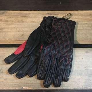 美式復古 菱格紋 騎士手套 L