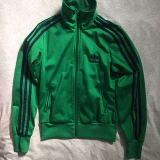 Adidas Track Jacket in Kelly Green