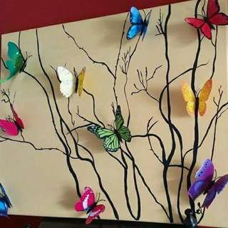 3D Butterfly Canvas Painting