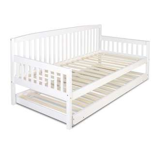 Wooden Bed Frame with Trundle - Single