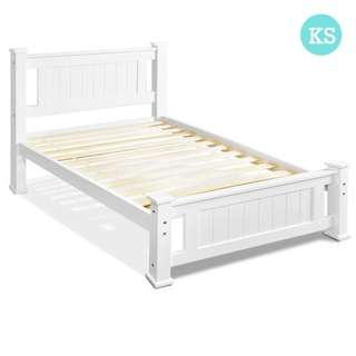 Wooden Bed Frame - King Single