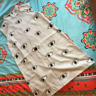 Choies Eyeball Print Shift Dress