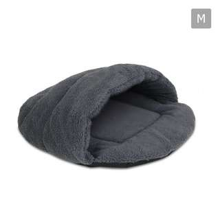 Cave Style Pet Bed Grey -Medium