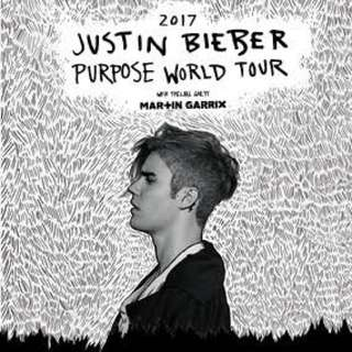 Justin Bieber Ticket Reserve A Section C7