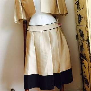 💯 Silk London Designer Suit Skirt And Bolero Jacket