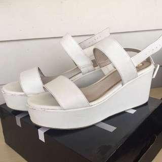 ZU White Platform Sandals