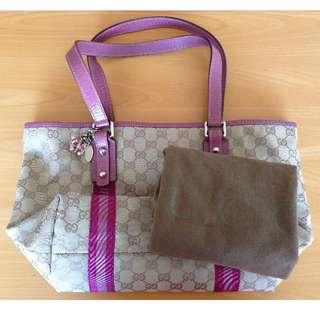 Authentic Gucci Jolicoeur Pink Tote Shoulder Bag Medium