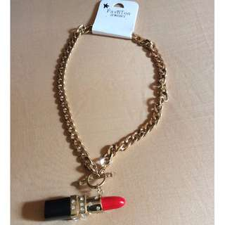 Chanel Design Lipstick Necklace