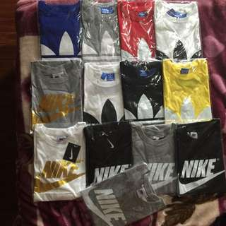 Adidas And Nike Male And Female Shirt