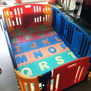 EduPlay Baby Playyard Playpen With Gate Extra Panels