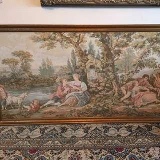 Large italian french needlepoint tapestry negotiable