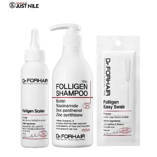Dr.ForHair 3-Step Anti-Hair Loss Folligen Bundle *Exclusively @ JustNile* - Shampoo + Scaler + Swabs