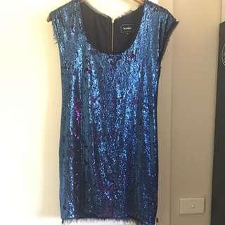 Sequinned Mini Dress S10