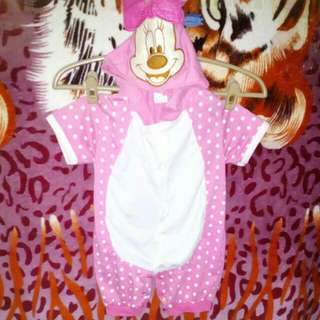 Minnie Mouse Overall W/ Hoodie
